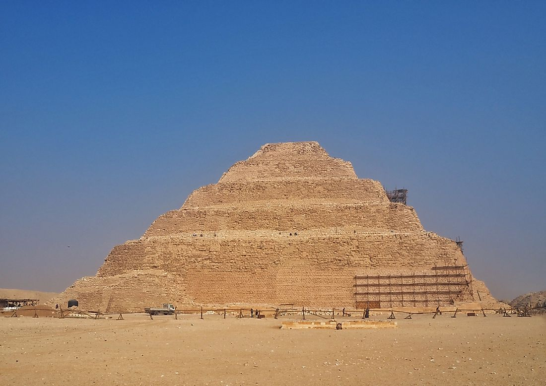 The pyramid of Saqqara in the ancient city of Memphis.