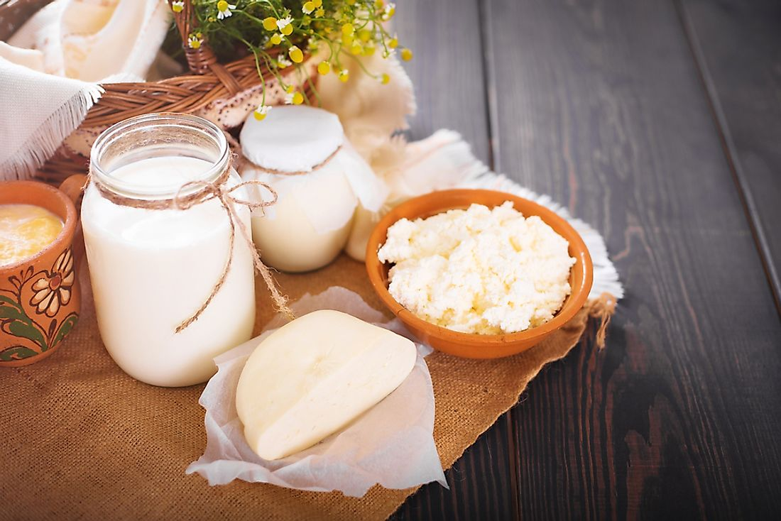 Goat's milk is also used to make a variety of dairy products.