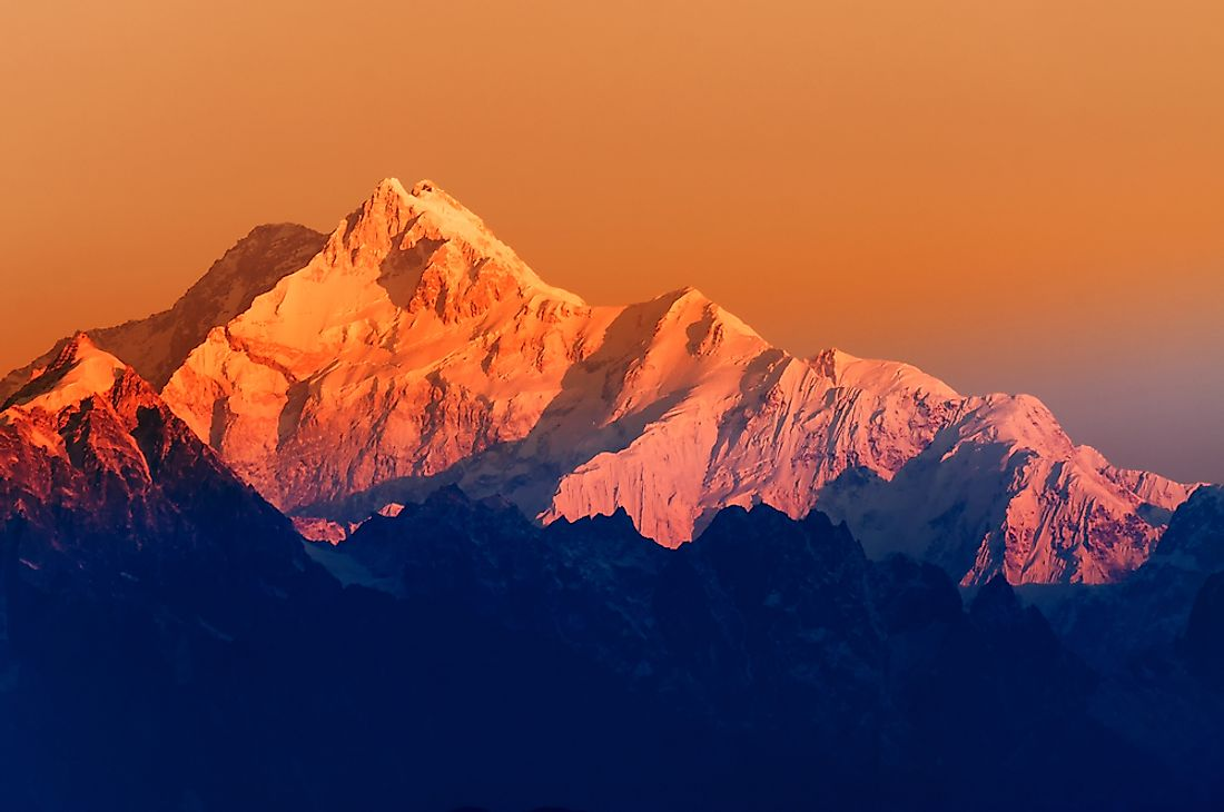 Mount Kangchenjunga, on the border of Nepal and India, is an example of a forbidden mountain.