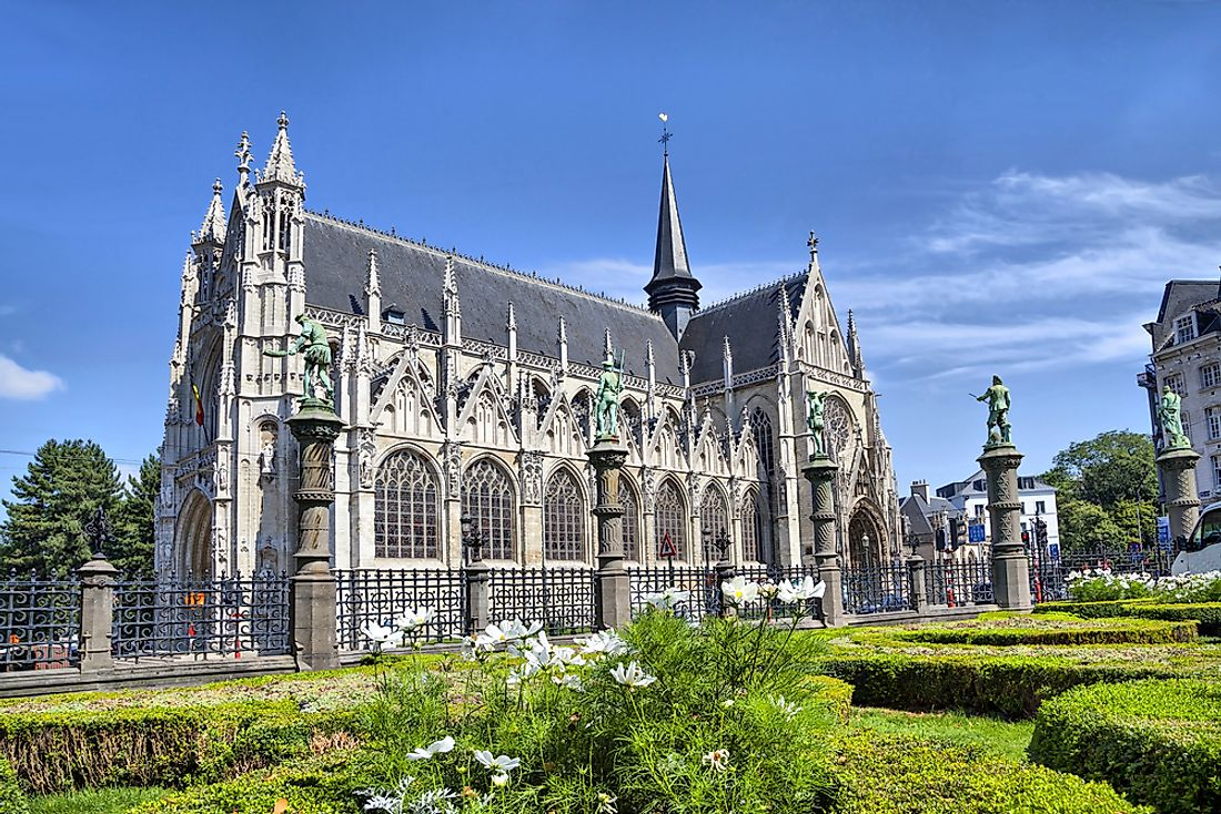 A Catholic cathedral in Brussels, Belgium.