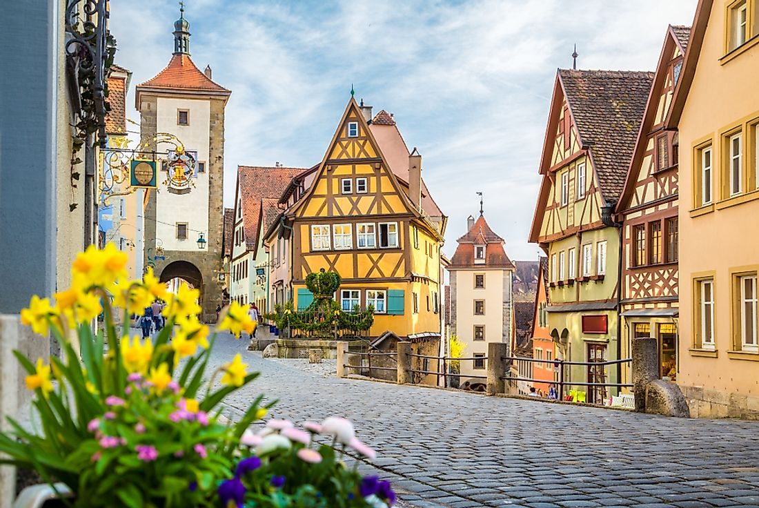 The beautiful medieval German town of Rothenburg ob der Tauber.