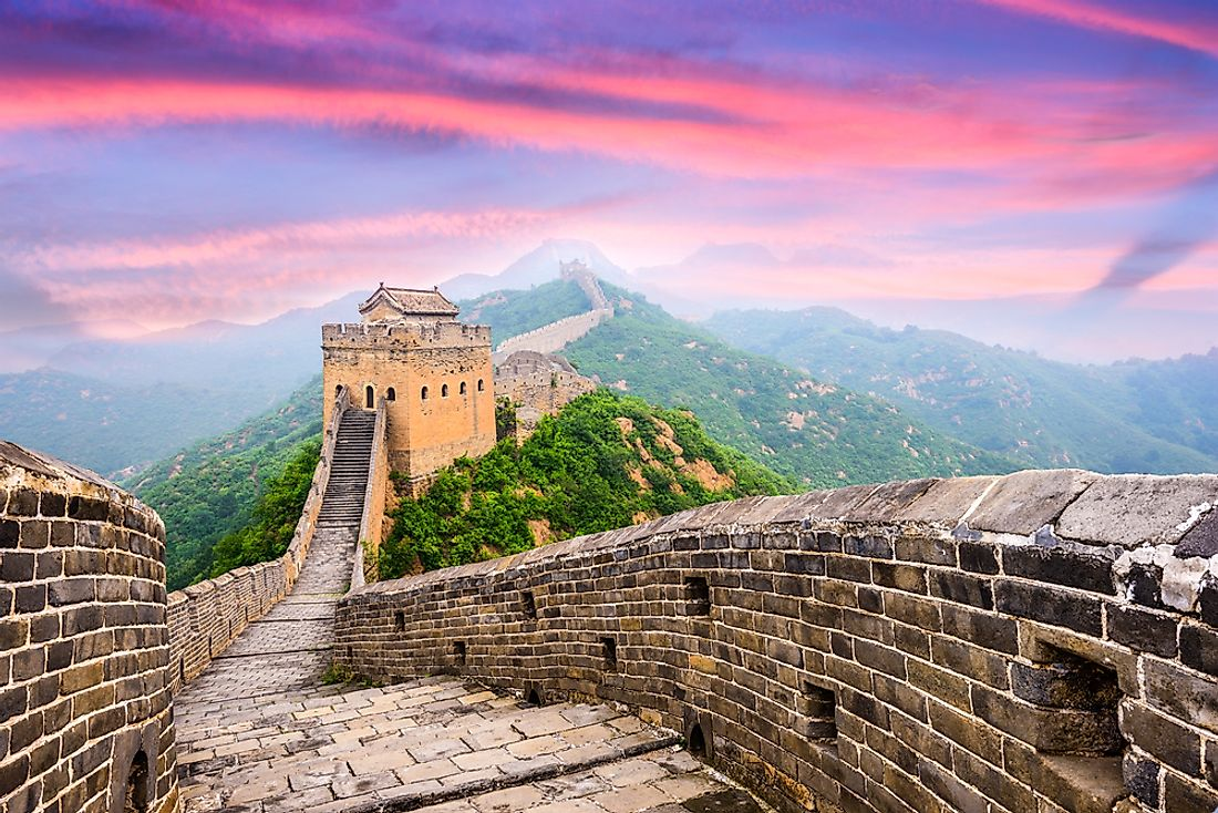 Jinshanling section of the Great Wall of China.