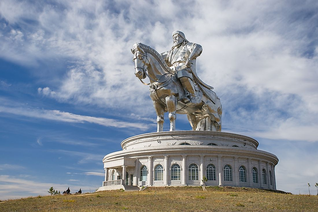 A statue of Genghis Khan in Mongolia.