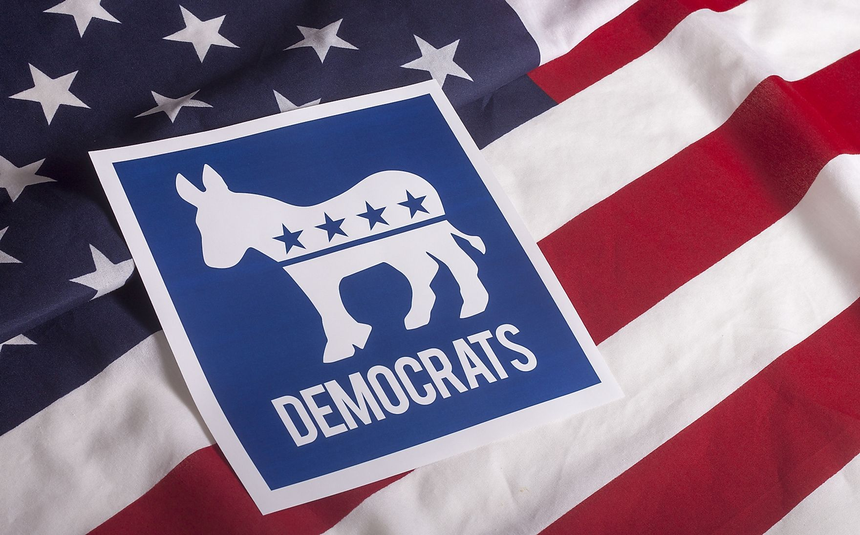 The symbol of the democrats, the donkey.
