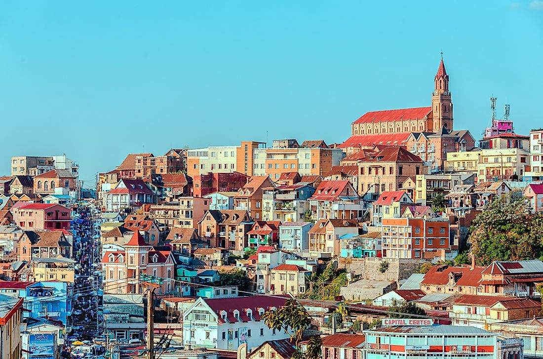 Antananarivo, in Madagascar, is one of the fastest-growing cities in the world. Editorial credit: Nok Lek / Shutterstock.com.