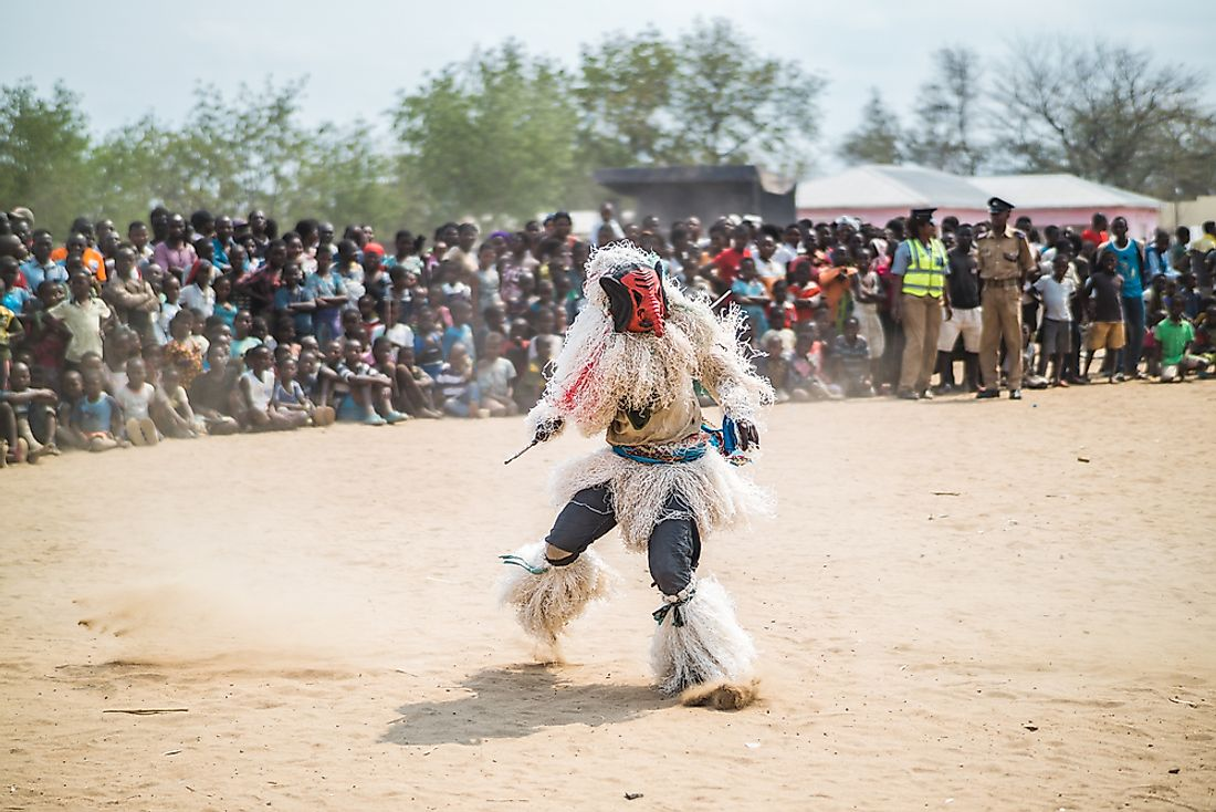 A traditional dancer in Malawi.