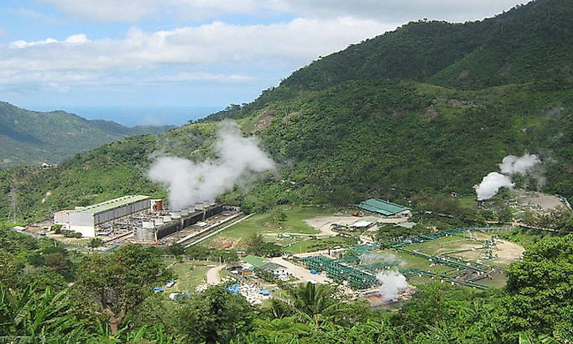Geothermal power station in Negros Oriental, Philippines.