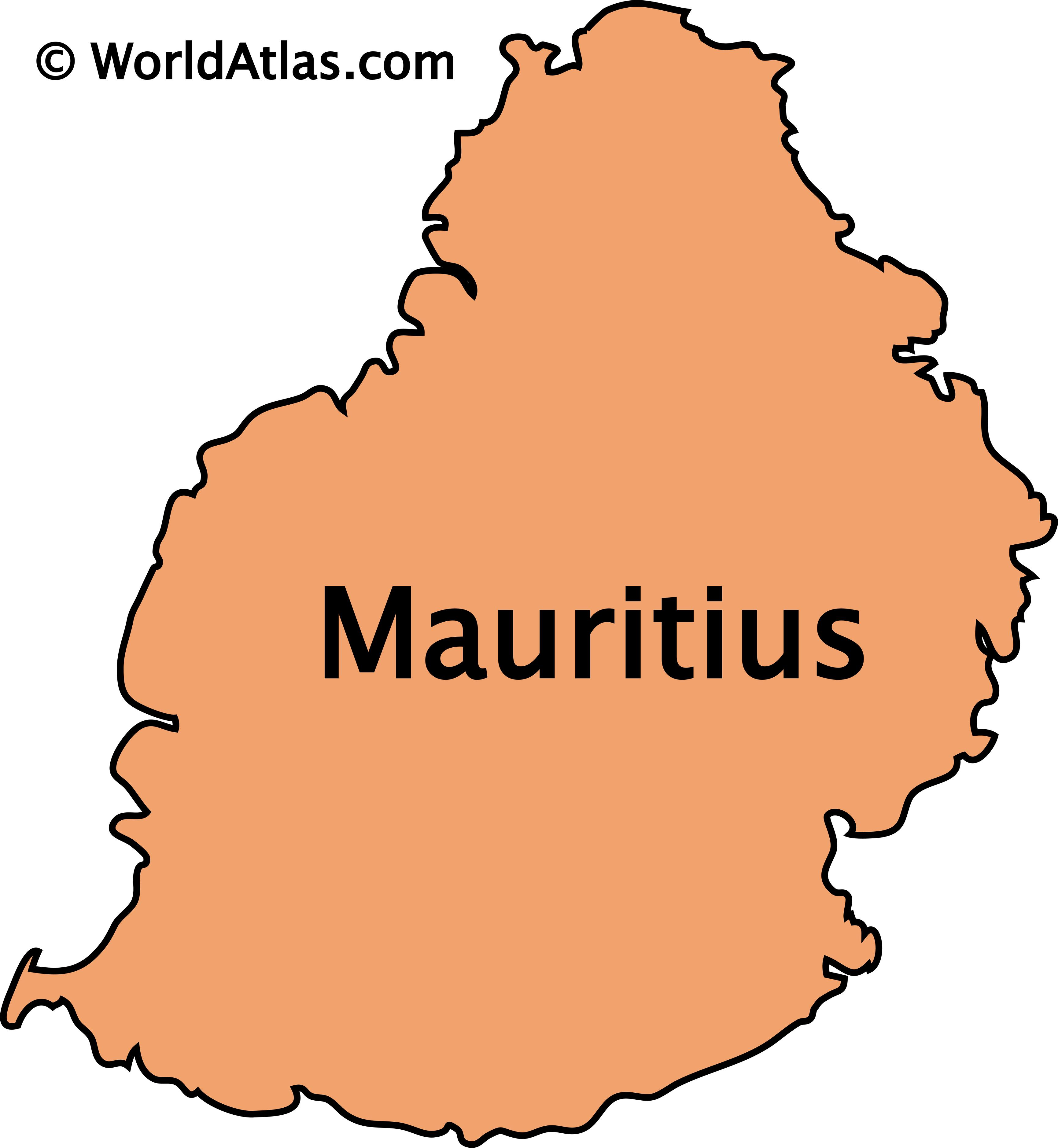 Outline Map of Mauritius