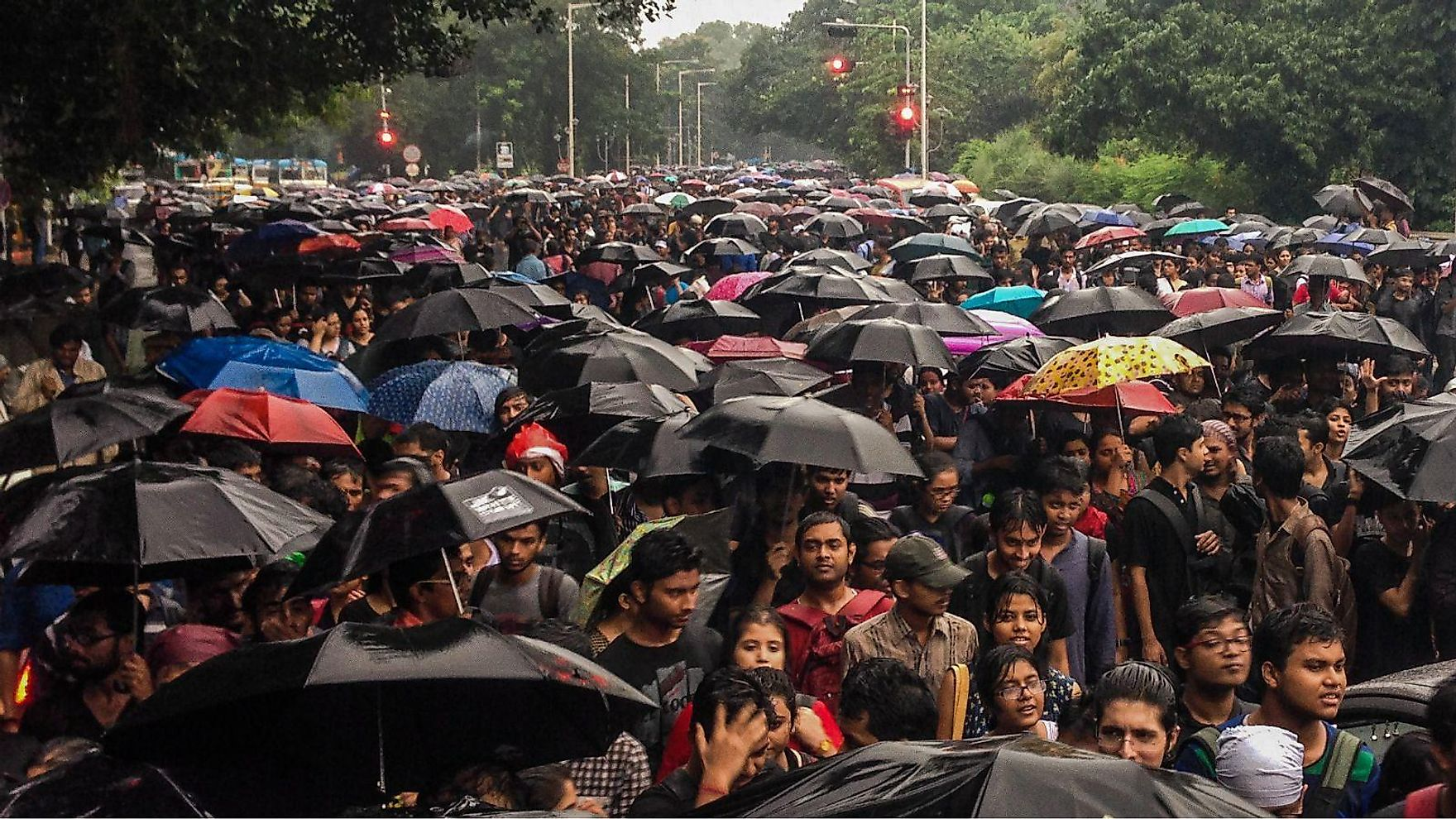 In 2014, a female student at Jadavpur University in Calcutta was molested, and it immediately prompted a response from all students that the authorities need to investigate the crime.Image credit: qz.com