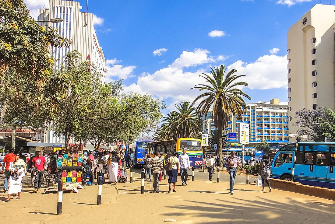Nairobi is the capital city of Kenya. Editorial credit: Authentic travel / Shutterstock.com