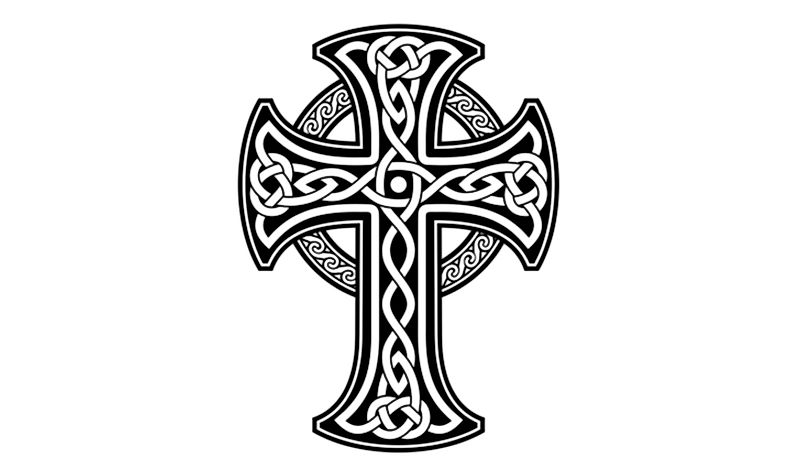 A Celtic cross.