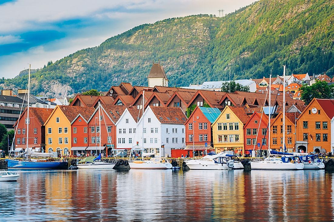 Colorful houses of Bergen, Norway.