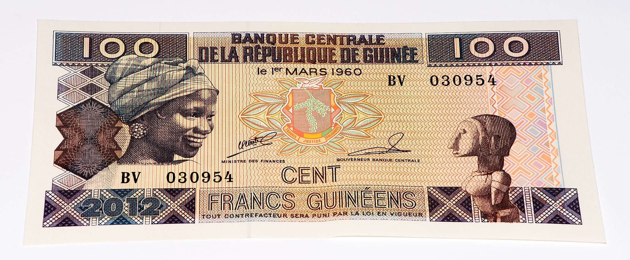 Guinea-Bissau West African CFA franc banknote.