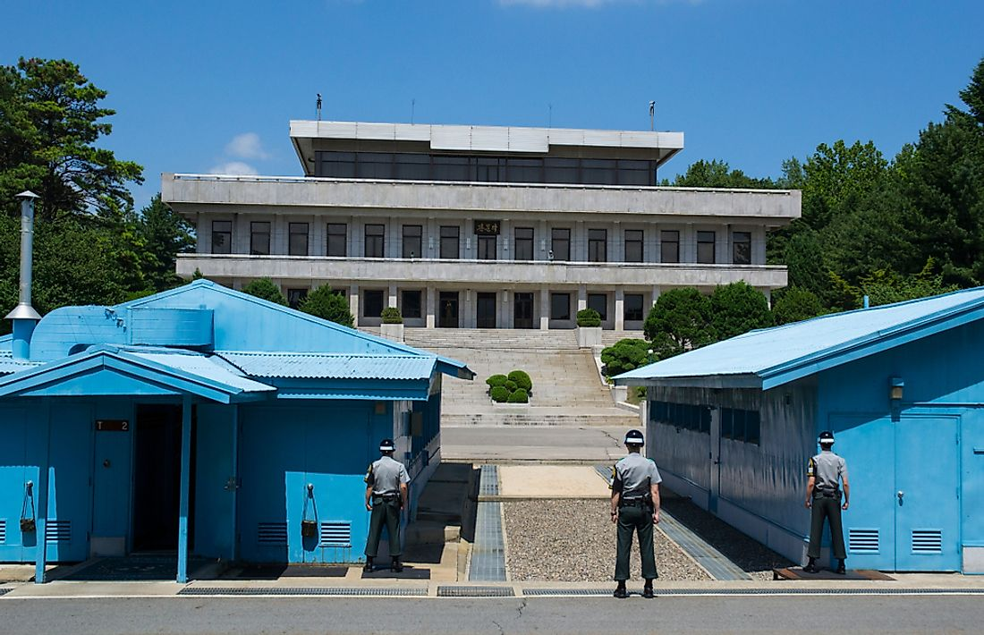 "The border between North Korea and South Korea is known as the ""demilitarized zone"" or DMZ."