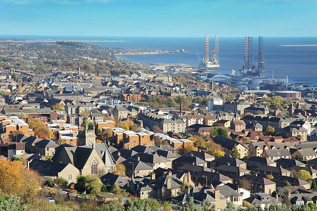 Dundee, the fourth largest city in Scotland by population.