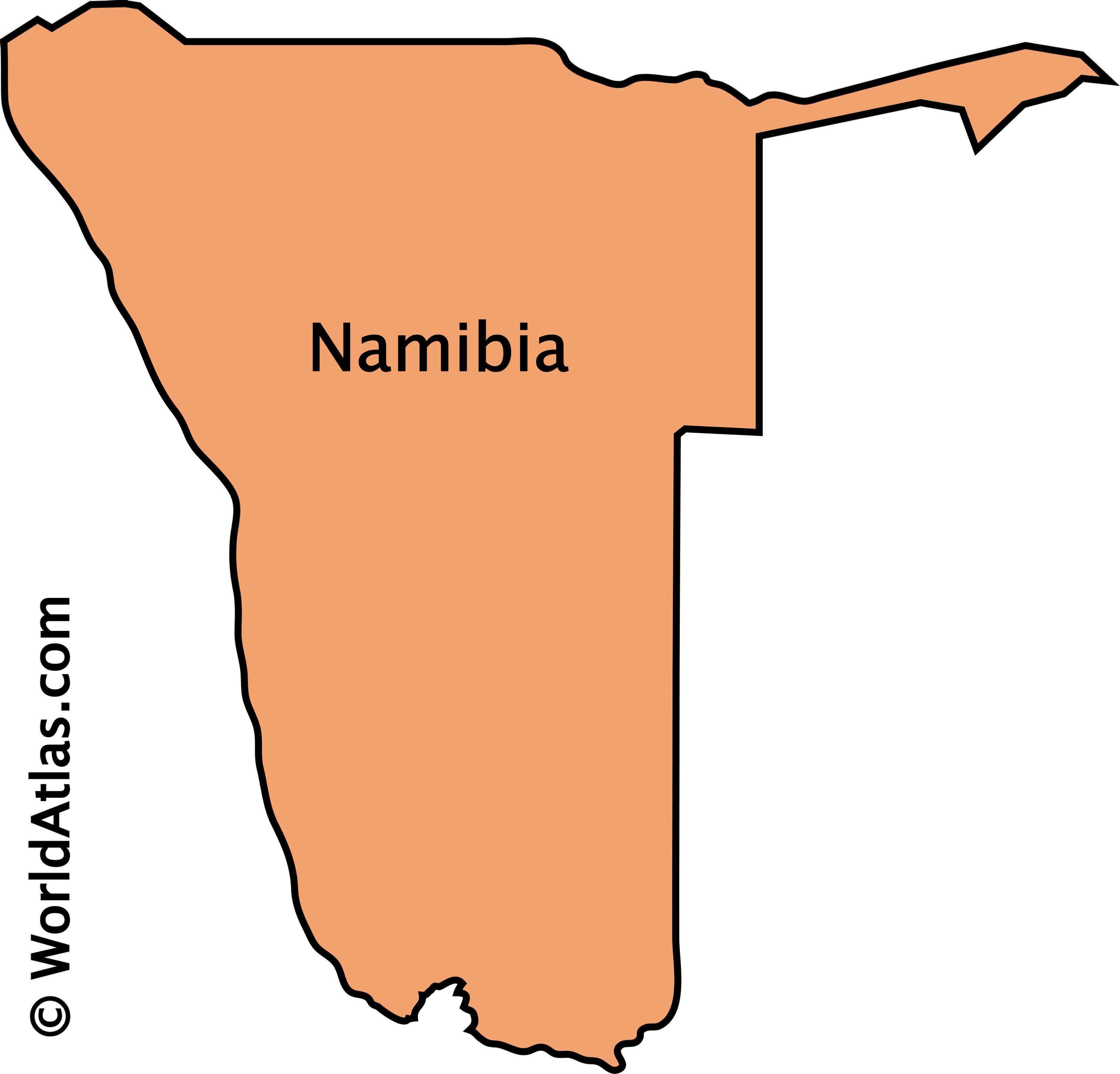 Outline Map of Namibia