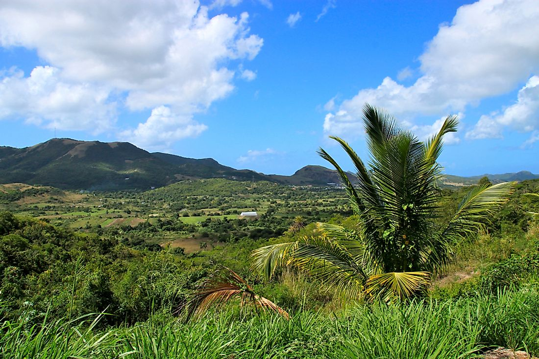 The countryside of Antigua.