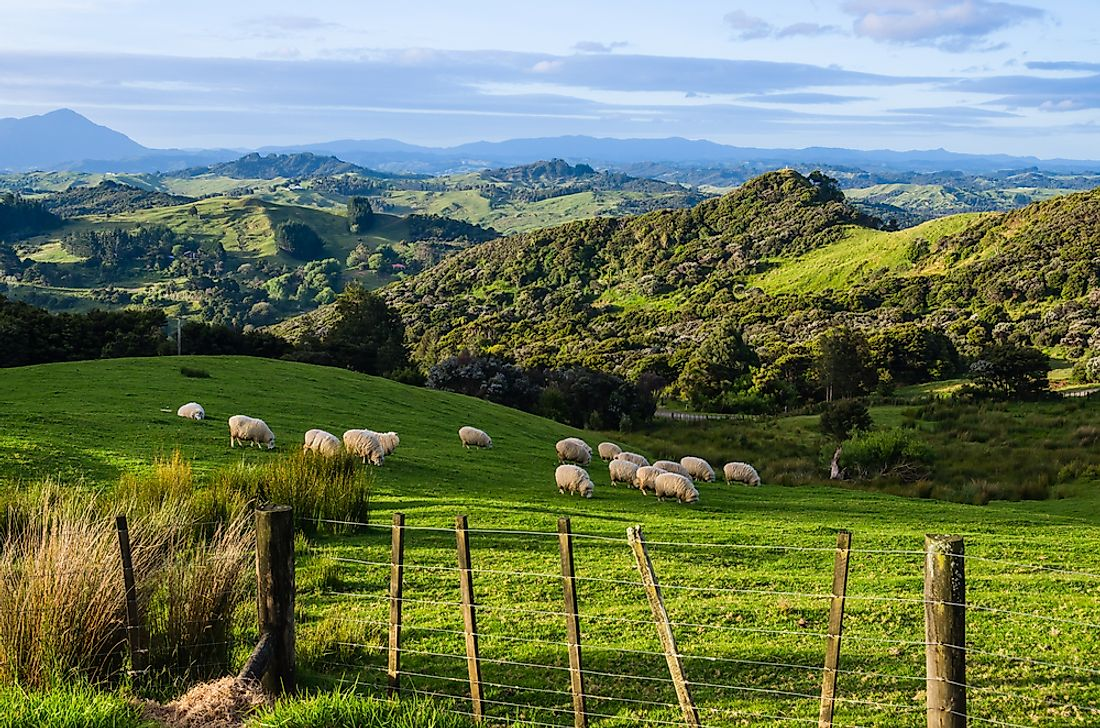 Agriculture is a major industry in New Zealand.