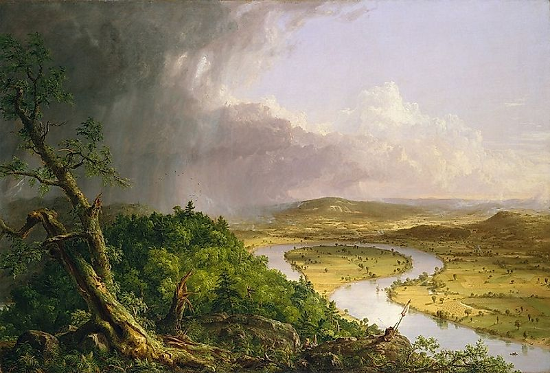 """The Oxbow"", a painting of the Connecticut River by Thomas Cole."