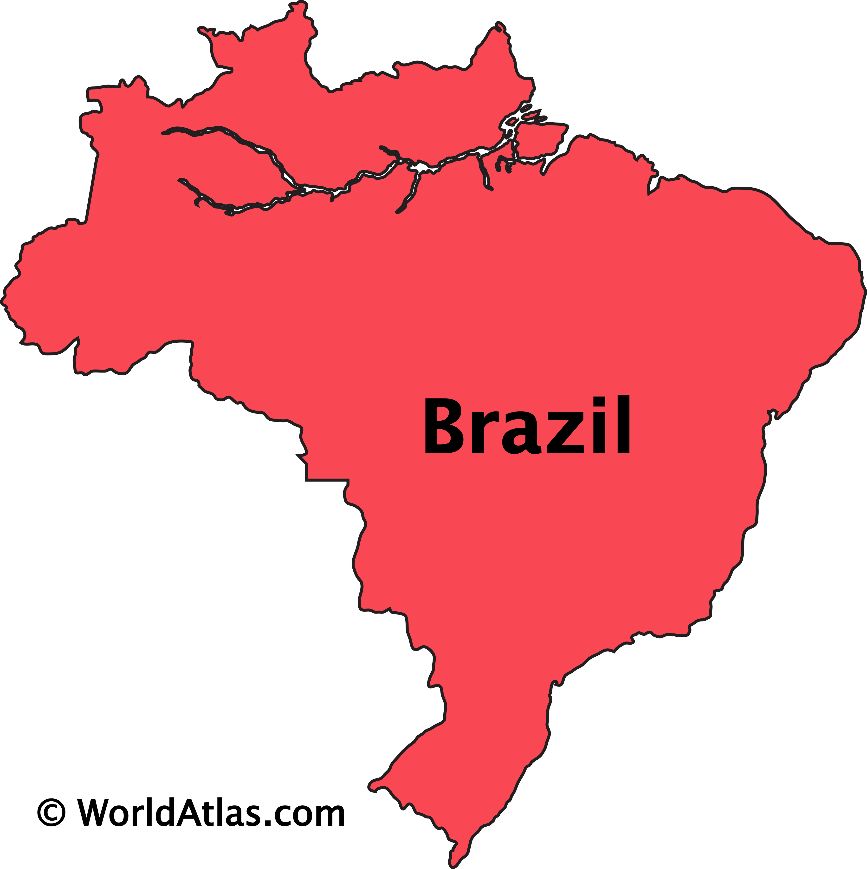 Outline Map of Brazil