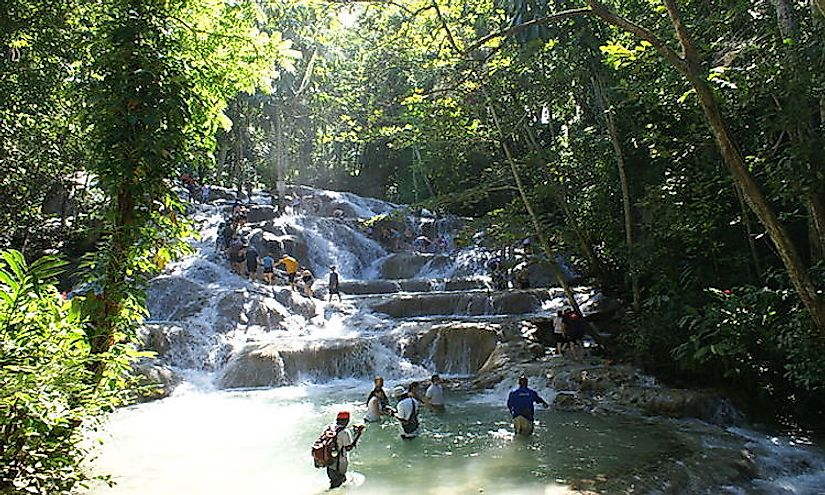 Dunn's River Falls in Jamaica is famous for its surreal beauty, attracting tourists from across the world.