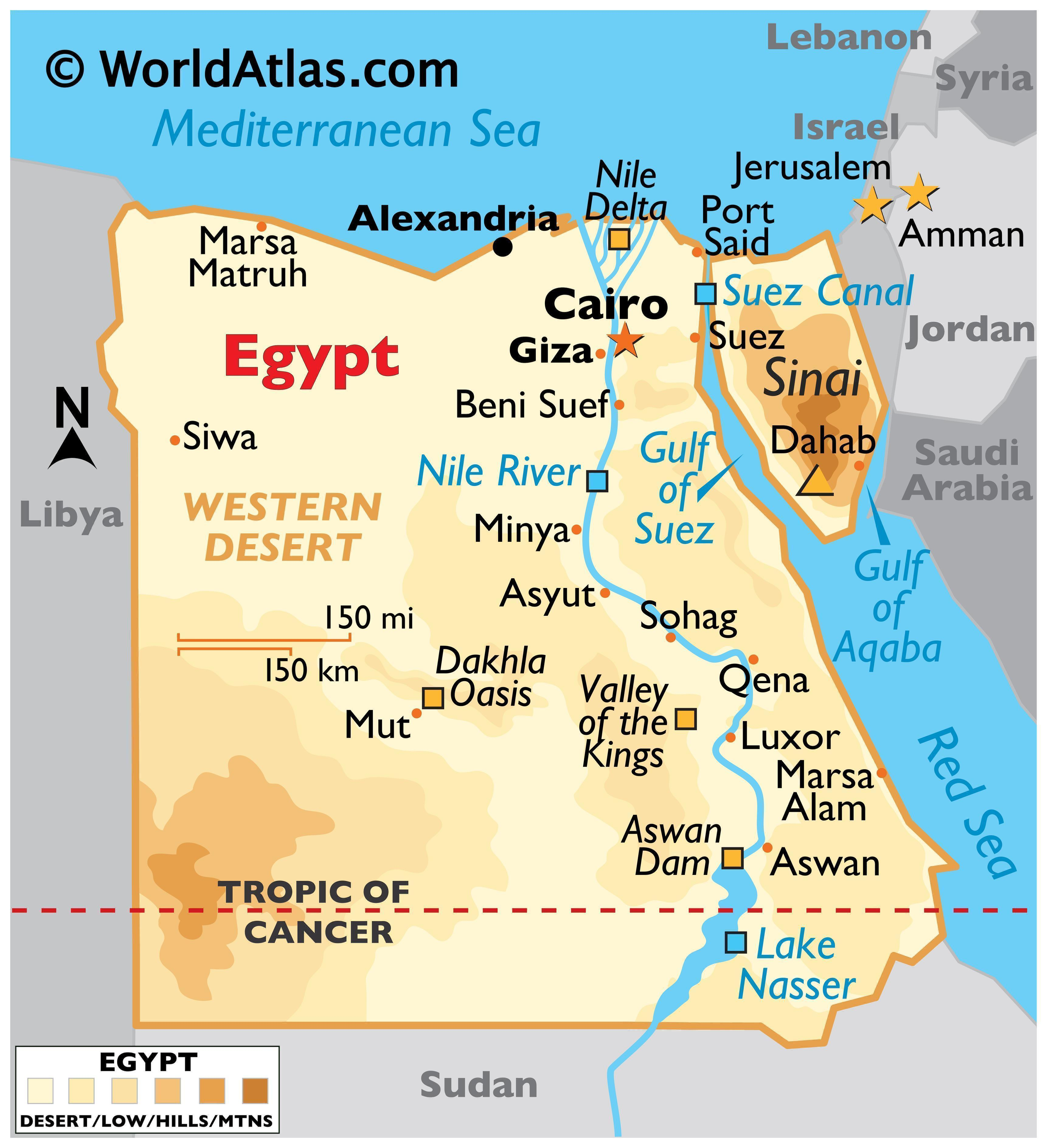 Picture of: Egypt Maps Facts World Atlas