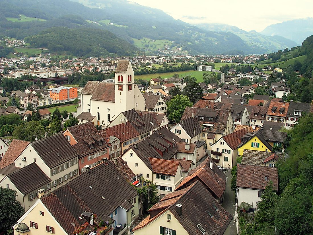 Although Vaduz is not the largest city of Liechtenstein, it is the capital.