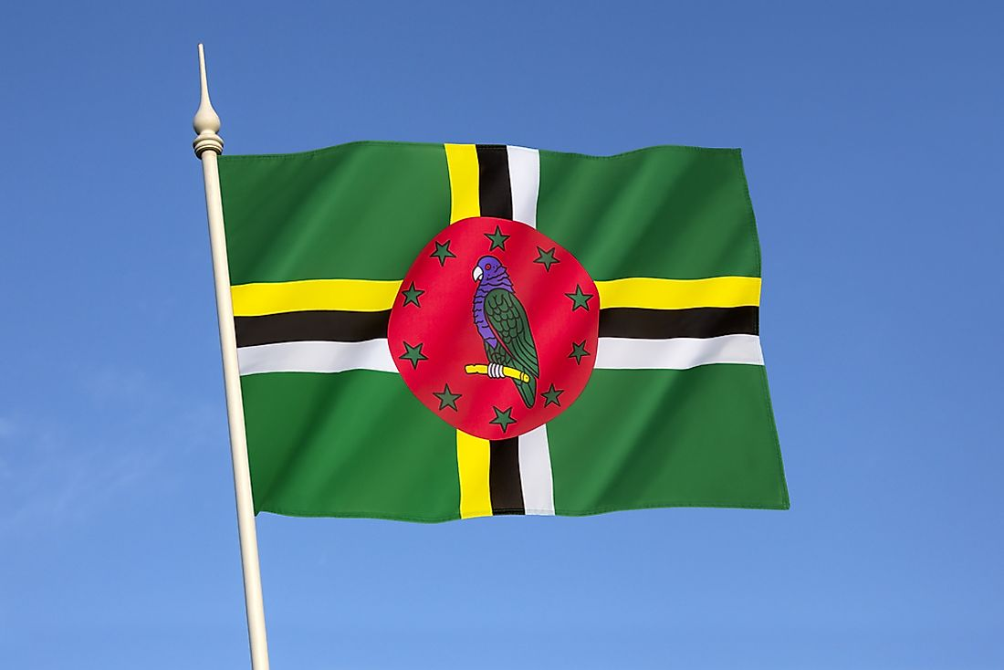 The imperial amazon parrot has a prominent place on the flag of Dominica.