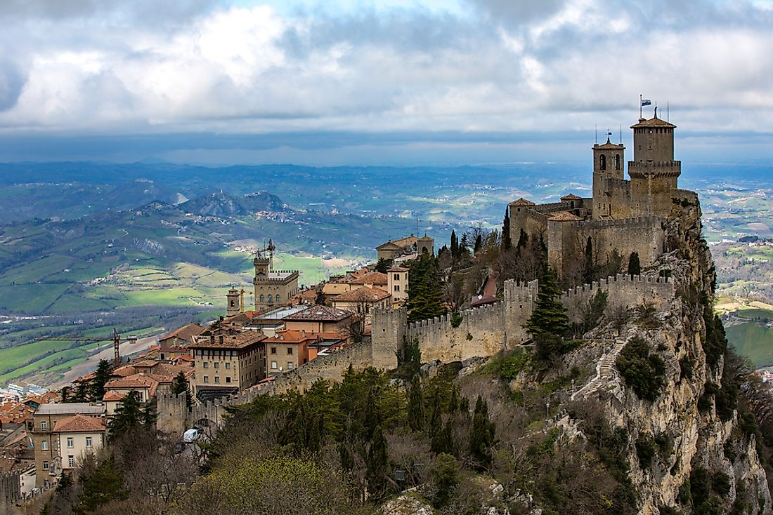 A view of San Marino.