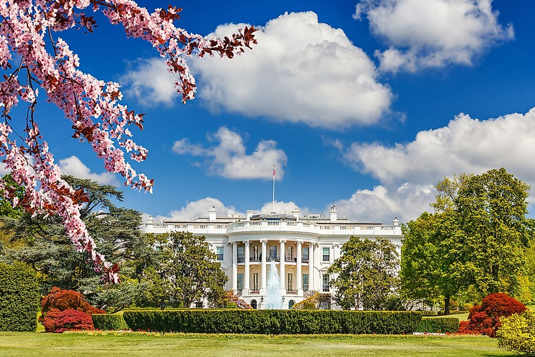 The White House, the official residence of the President of the United States.