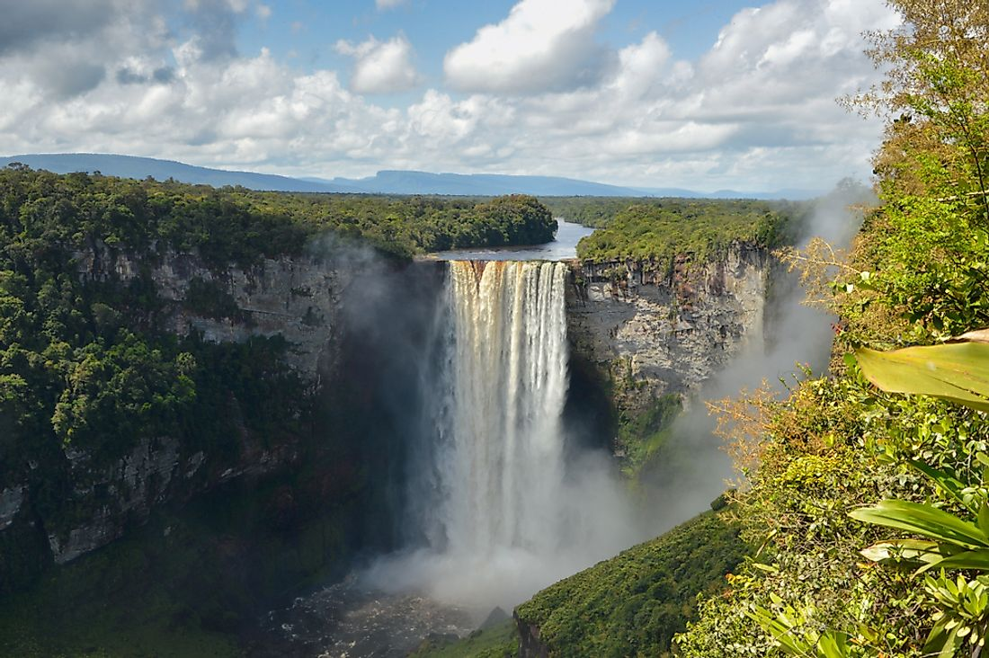 The beautiful Kaieteur Falls in Guyana.