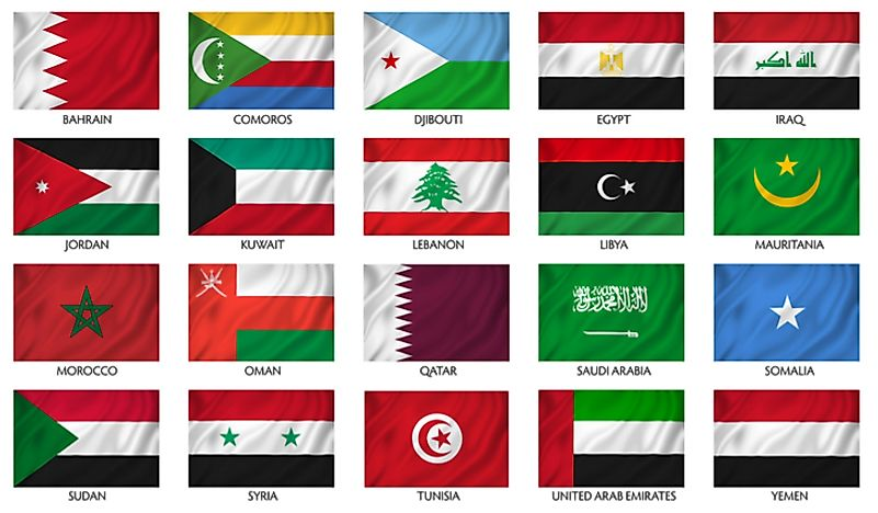 Many countries in the Arab league feature the Pan-Arab colors in their flag.
