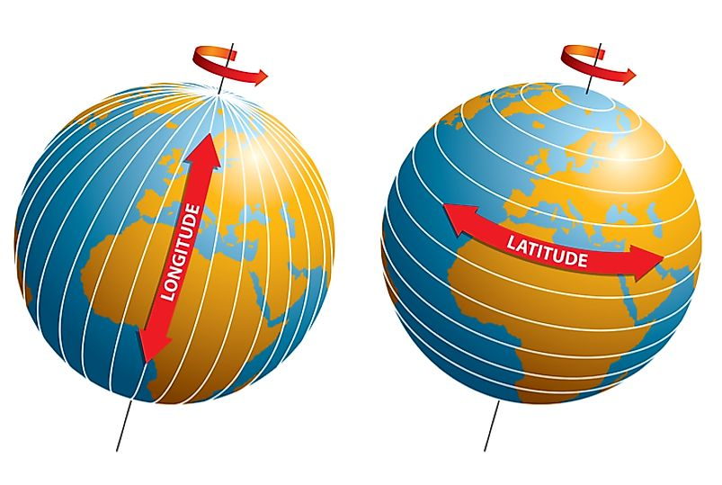 Longitude lines run from the earth's north to south poles, and are used to identify a place's easterly or westerly position on Earth.