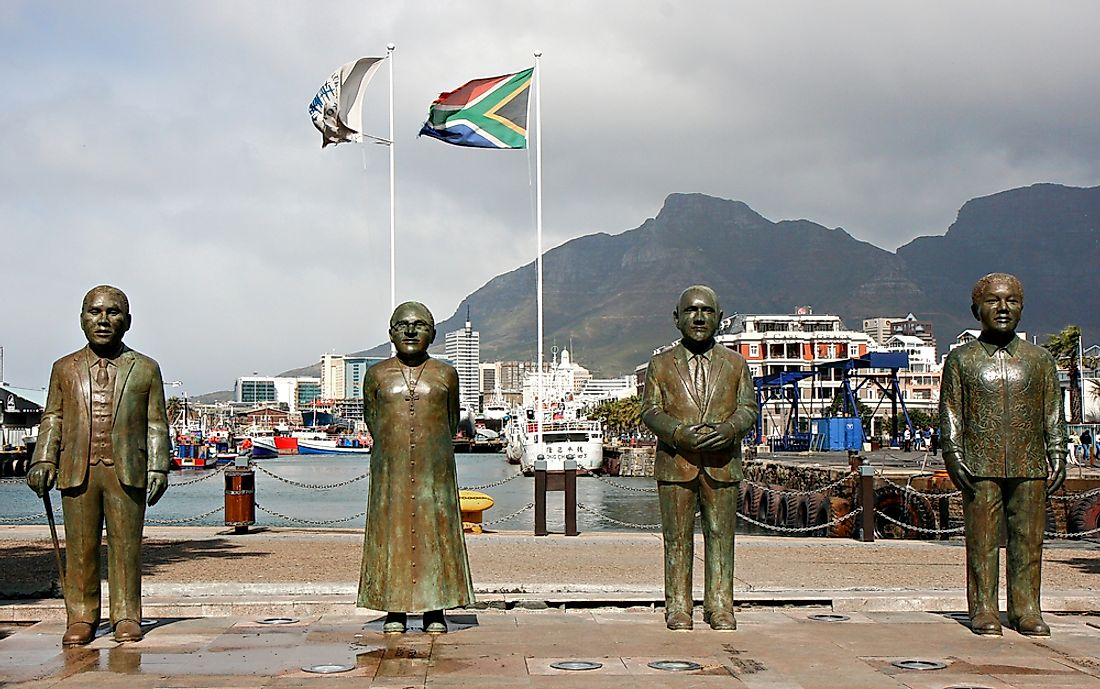 Statues in Cape Town commemorate famous South Africans, some of whom have received the Nobel Prize. Photo credit: Circumnavigation / Shutterstock.com.