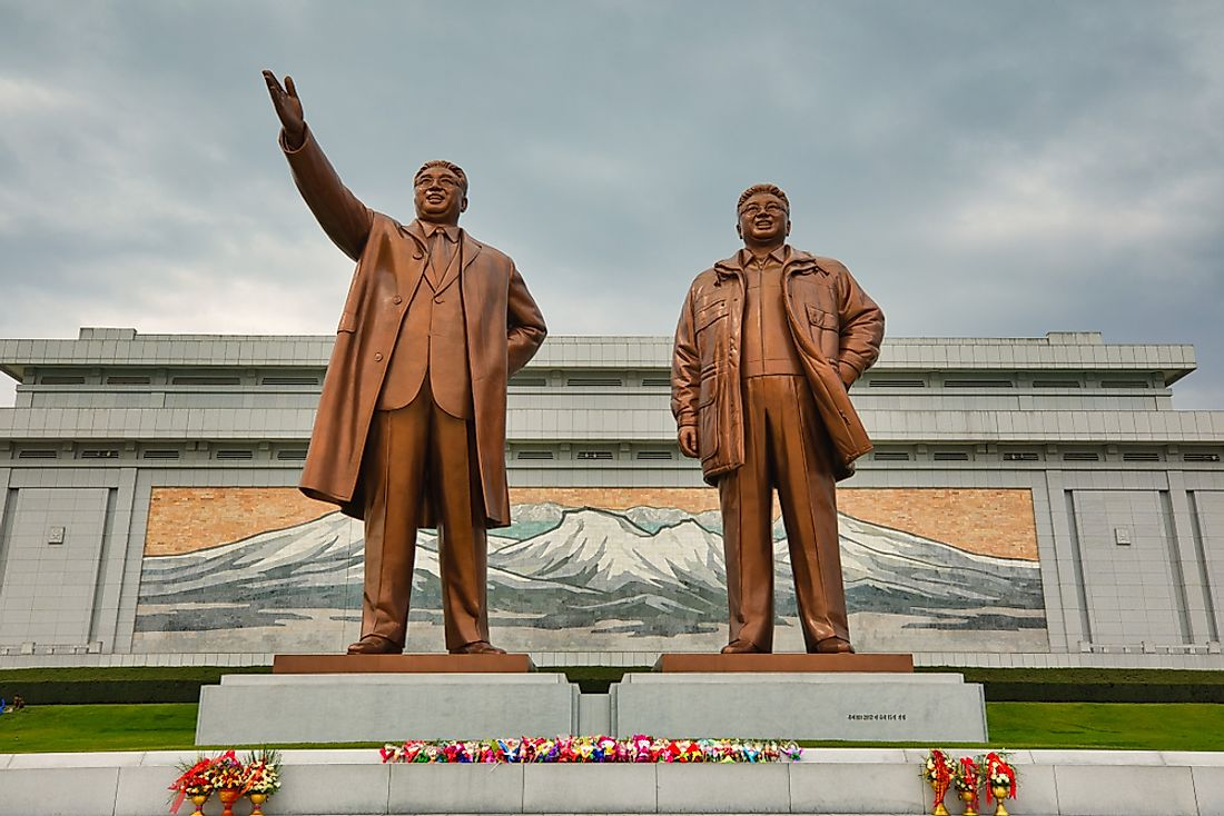 The supreme leaders in North Korea are an often-cited example of a Cult of Personality. Editorial credit: Truba7113 / Shutterstock.com.