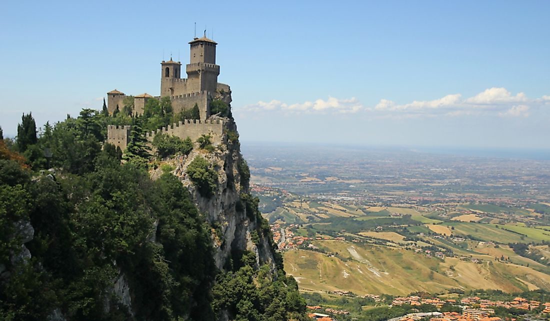 San Marino has beautiful landscapes and arable land.  Editorial credit: totajla / Shutterstock.com