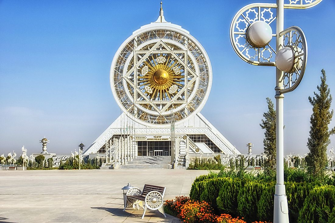 The Alem Center in Turkmenistan, the site of the world's largest indoor ferris wheel. Editorial credit: Atosan / Shutterstock.com.