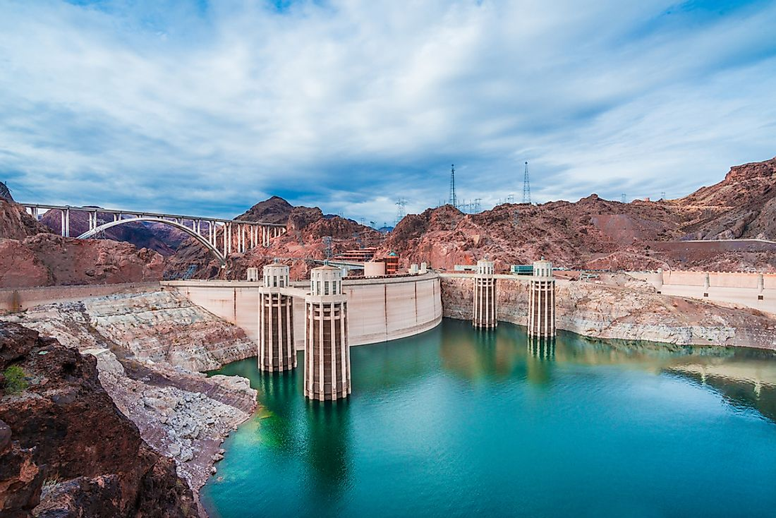 The Hoover Dam, one of the industrial wonders of the world.
