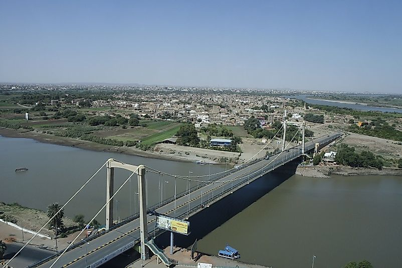 Bridge over the Nile between Tuti island and Khartoum.