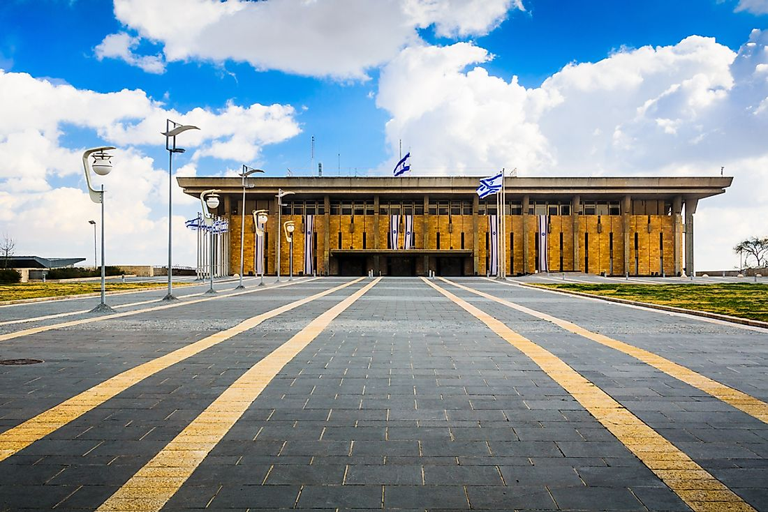 The Knesset, the Israeli parliament, building, in Jerusalem. Editorial credit: Sean Pavone / Shutterstock.com.