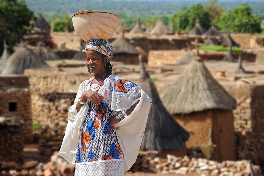 A Dogon woman in Mali. Editorial credit: Quick Shot / Shutterstock.com.
