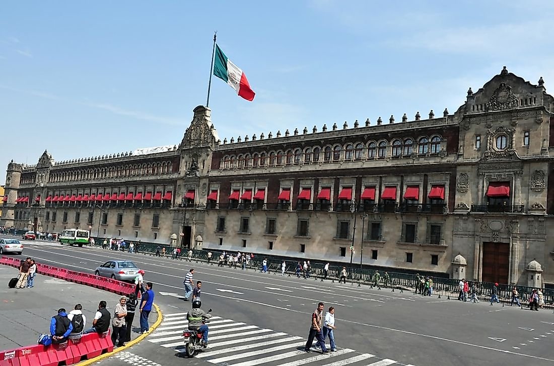 The Mexico National Palace in Mexico City. Editorial credit: ChameleonsEye / Shutterstock.com.