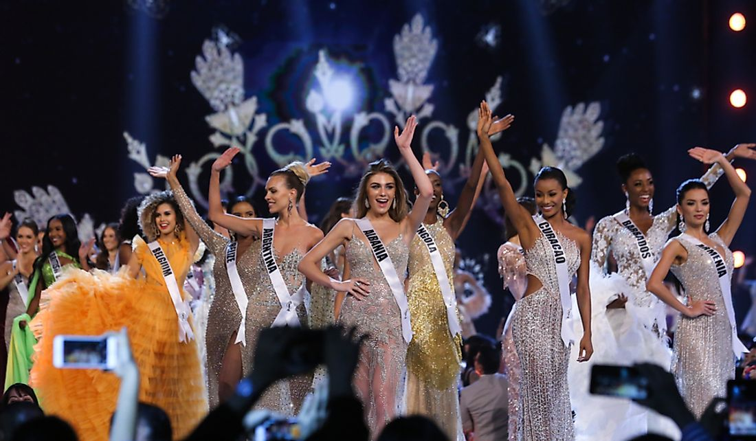 Contestants at the preliminary round of the Miss Universe 2018. Editorial credit: Sek Samyan / Shutterstock.com