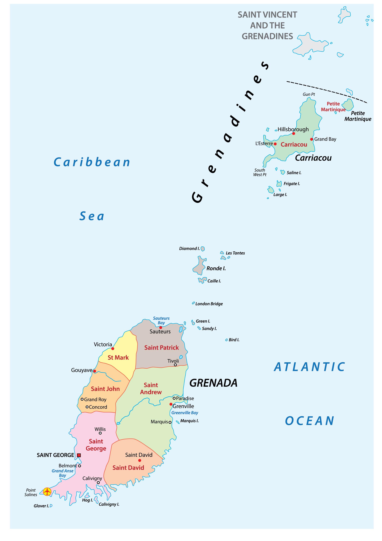 Grenada Maps Facts World Atlas