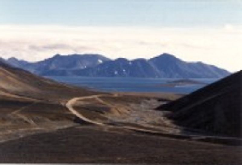 Seemingly barren plains and mountains in Beringia National Park, not far from the Bering Strait and U.S. state of Alaska.