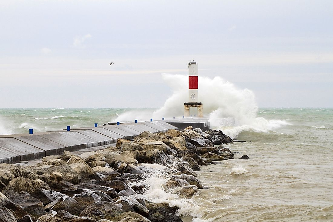 Lake Michigan has experienced multiple lake tsunamis over the years.