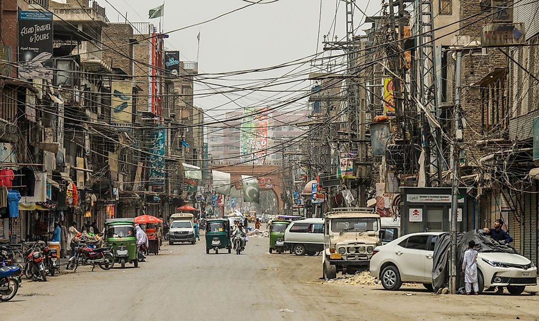 Peshawar, Pakistan ranks second in terms of poorest air quality in the world. Editorial credit: Dave Primov / Shutterstock.com
