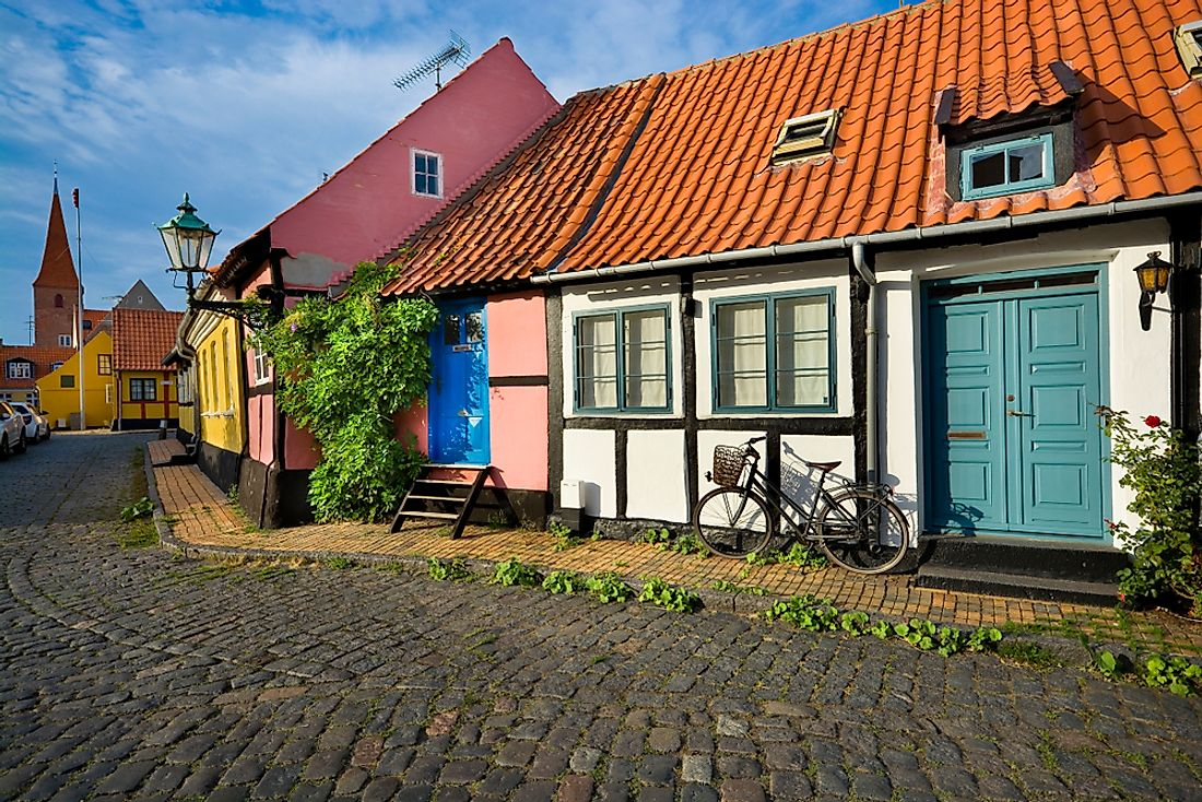 Traditional Danish houses.