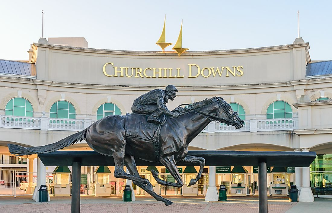 Churchill Downs is the third largest horse racing venue in the world. Editorial credit: Thomas Kelley / Shutterstock.com.