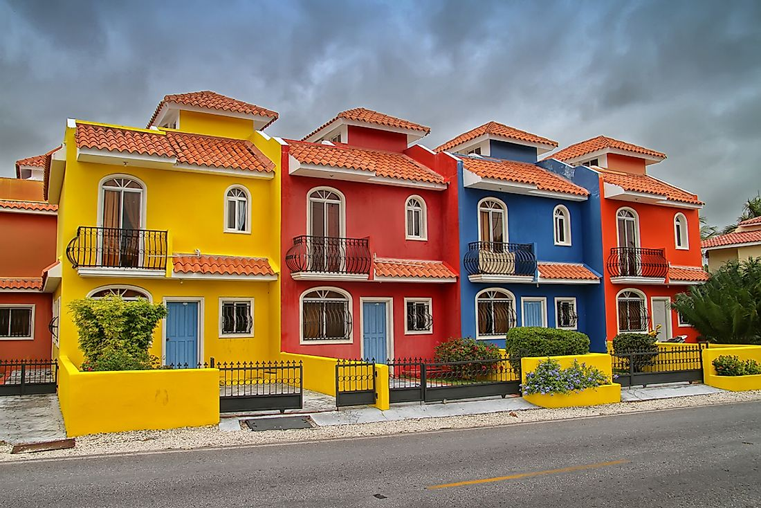 Houses in the Dominican Republic.